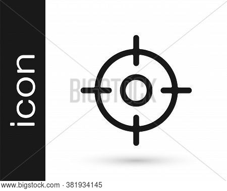 Grey Target Sport Icon Isolated On White Background. Clean Target With Numbers For Shooting Range Or