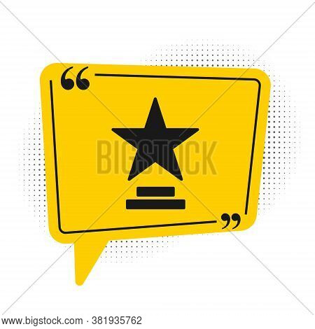 Black Movie Trophy Icon Isolated On White Background. Academy Award Icon. Films And Cinema Symbol. Y