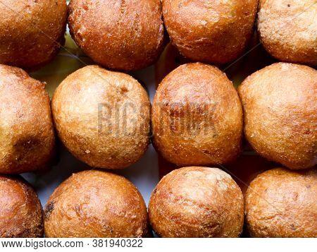 Bonda, A Traditional Kerala Tea Time Snack Made Of Maida Or Wheat Flour And Jaggery