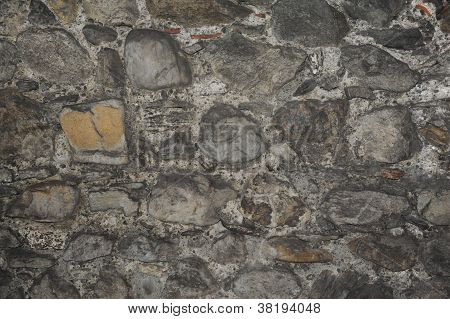 Close View of a Medieval Nature Stone Tower Wall poster