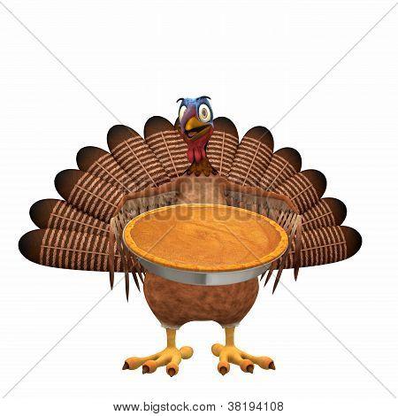 Toon Turkey - Pumpkin Pie