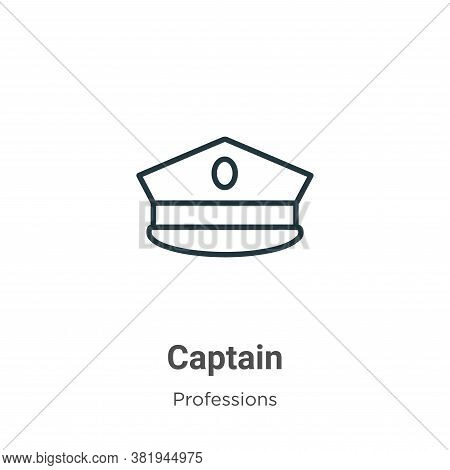 Captain icon isolated on white background from professions collection. Captain icon trendy and moder