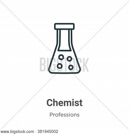 Chemist icon isolated on white background from professions collection. Chemist icon trendy and moder