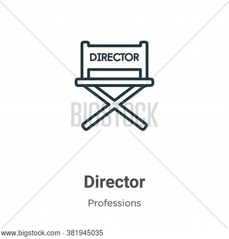 Director icon isolated on white background from professions collection. Director icon trendy and mod