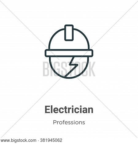 Electrician icon isolated on white background from professions collection. Electrician icon trendy a