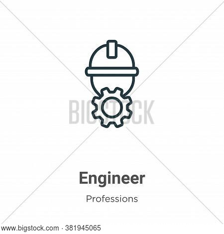 Engineer icon isolated on white background from professions collection. Engineer icon trendy and mod