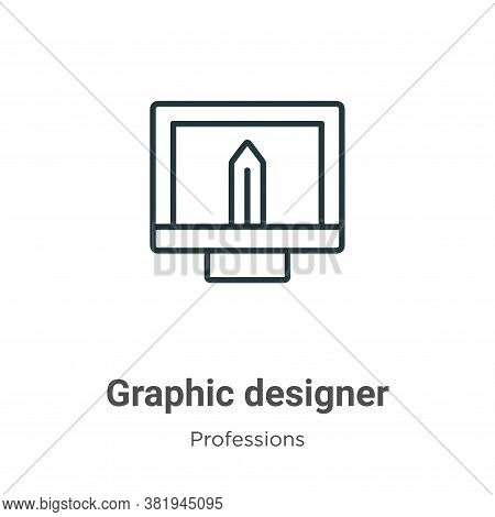 Graphic designer icon isolated on white background from professions collection. Graphic designer ico