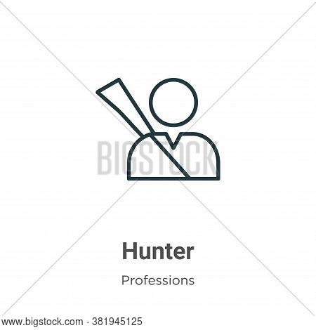 Hunter icon isolated on white background from professions collection. Hunter icon trendy and modern