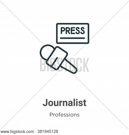 Journalist Icon From Professions Collection Isolated On White Background.