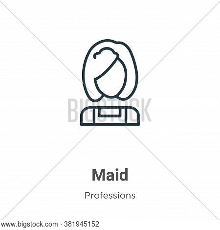 Maid icon isolated on white background from professions collection. Maid icon trendy and modern Maid