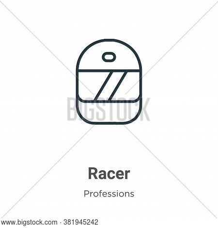 Racer icon isolated on white background from professions collection. Racer icon trendy and modern Ra