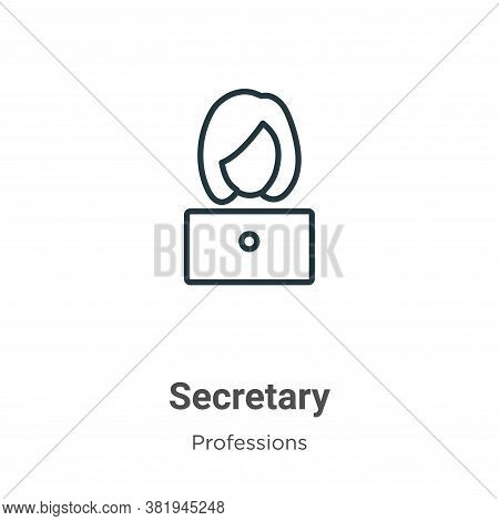 Secretary icon isolated on white background from professions collection. Secretary icon trendy and m