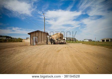 Watford City Semi Truck during Oil Boom