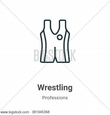 Wrestling icon isolated on white background from professions collection. Wrestling icon trendy and m