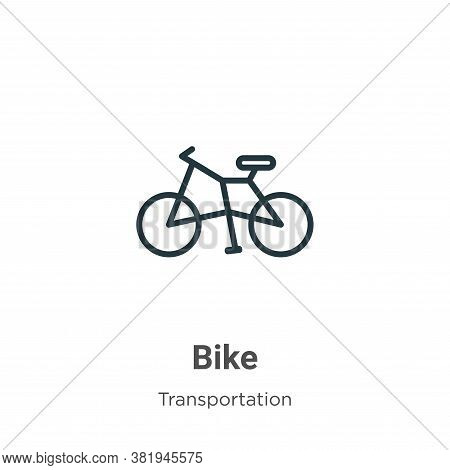 Bike icon isolated on white background from transportation collection. Bike icon trendy and modern B