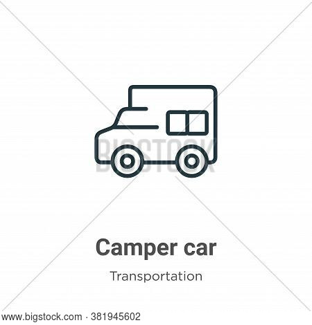 Camper car icon isolated on white background from transportation collection. Camper car icon trendy