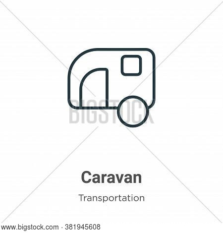 Caravan icon isolated on white background from transportation collection. Caravan icon trendy and mo