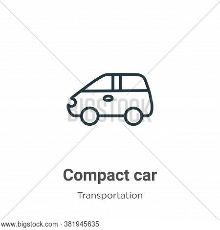 Compact car icon isolated on white background from transportation collection. Compact car icon trend