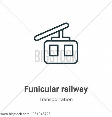 Funicular railway icon isolated on white background from transportation collection. Funicular railwa