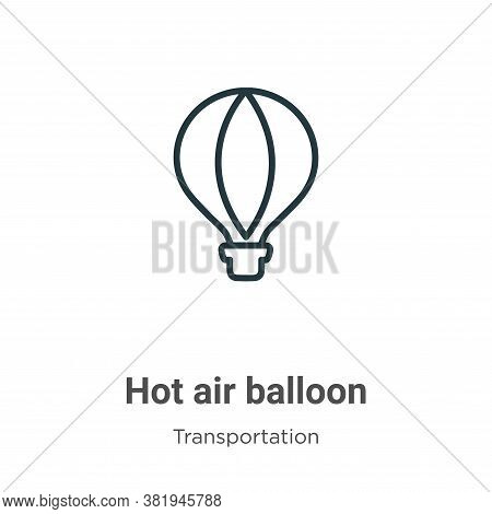 Hot air balloon icon isolated on white background from transportation collection. Hot air balloon ic