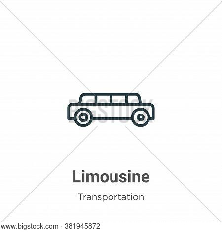 Limousine icon isolated on white background from transportation collection. Limousine icon trendy an