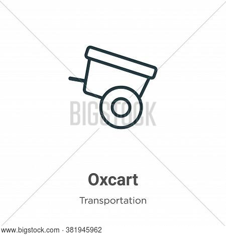 Oxcart icon isolated on white background from transportation collection. Oxcart icon trendy and mode