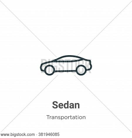 Sedan icon isolated on white background from transportation collection. Sedan icon trendy and modern