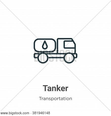 Tanker icon isolated on white background from transportation collection. Tanker icon trendy and mode