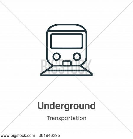 Underground icon isolated on white background from transportation collection. Underground icon trend