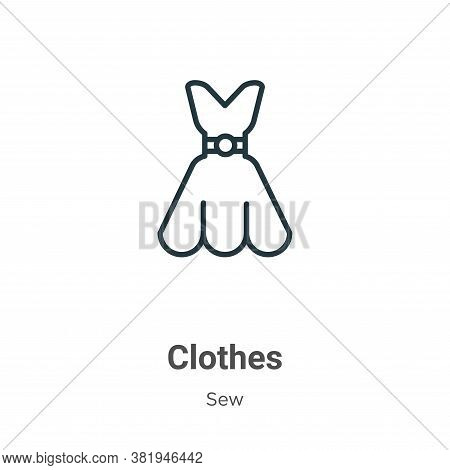 Clothes icon isolated on white background from sew collection. Clothes icon trendy and modern Clothe