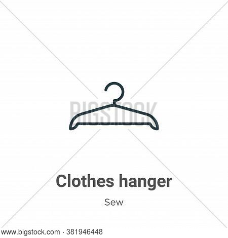 Clothes hanger icon isolated on white background from sew collection. Clothes hanger icon trendy and