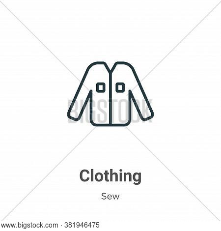 Clothing icon isolated on white background from sew collection. Clothing icon trendy and modern Clot