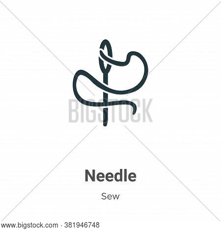Needle icon isolated on white background from sew collection. Needle icon trendy and modern Needle s
