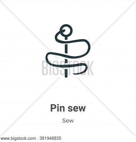 Pin sew icon isolated on white background from sew collection. Pin sew icon trendy and modern Pin se