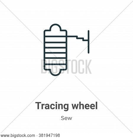 Tracing wheel icon isolated on white background from sew collection. Tracing wheel icon trendy and m