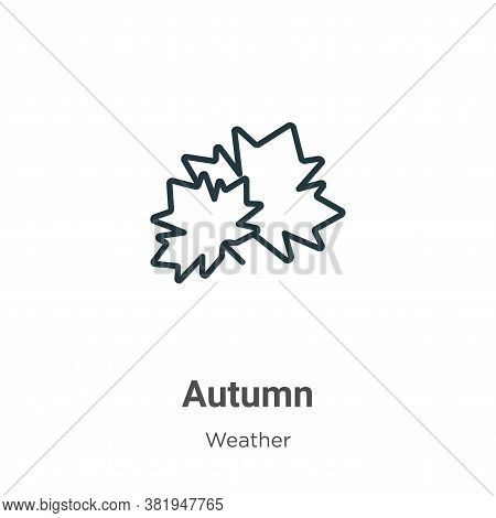 Autumn icon isolated on white background from weather collection. Autumn icon trendy and modern Autu