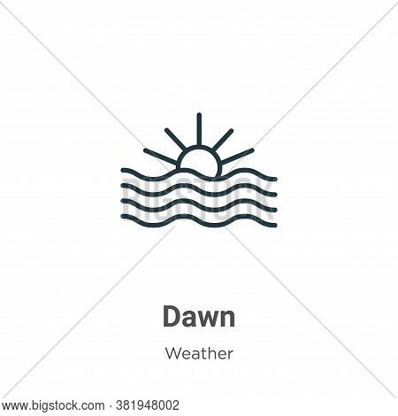 Dawn icon isolated on white background from weather collection. Dawn icon trendy and modern Dawn sym