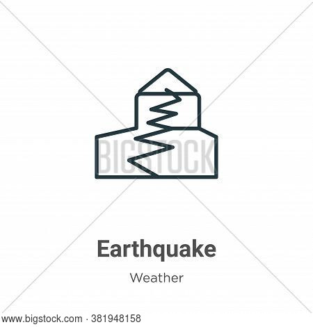 Earthquake icon isolated on white background from weather collection. Earthquake icon trendy and mod