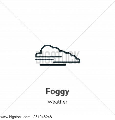 Foggy icon isolated on white background from weather collection. Foggy icon trendy and modern Foggy