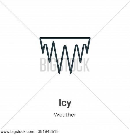 Icy icon isolated on white background from weather collection. Icy icon trendy and modern Icy symbol