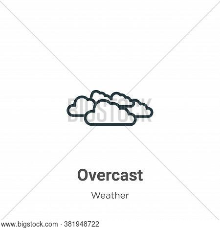 Overcast icon isolated on white background from weather collection. Overcast icon trendy and modern