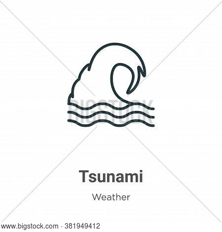 Tsunami icon isolated on white background from weather collection. Tsunami icon trendy and modern Ts