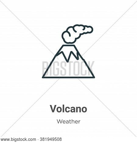 Volcano icon isolated on white background from weather collection. Volcano icon trendy and modern Vo