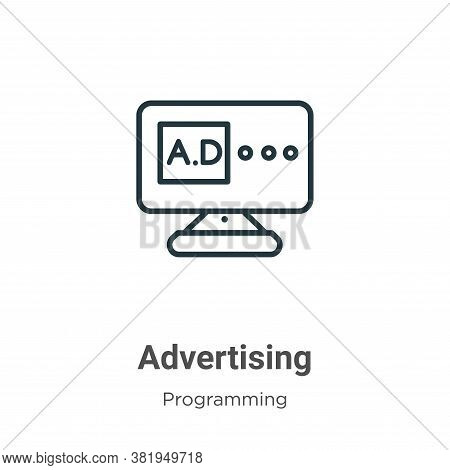 Advertising icon isolated on white background from seo collection. Advertising icon trendy and moder
