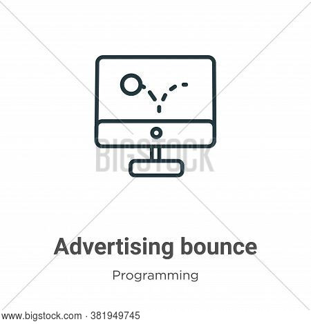 Advertising bounce icon isolated on white background from seo collection. Advertising bounce icon tr