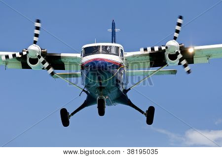 Turboprop Passenger Airplane.