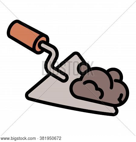 Masonry Trowel Icon. Outline Masonry Trowel Vector Icon For Web Design Isolated On White Background