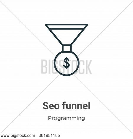 Seo funnel icon isolated on white background from seo collection. Seo funnel icon trendy and modern