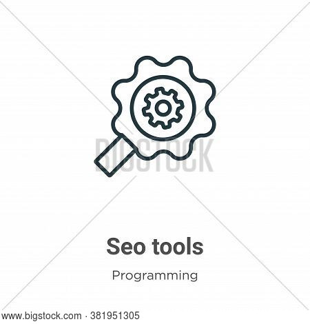 Seo tools icon isolated on white background from seo collection. Seo tools icon trendy and modern Se