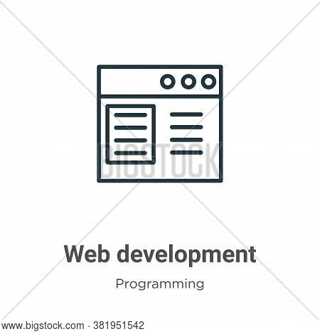 Web development icon isolated on white background from seo collection. Web development icon trendy a